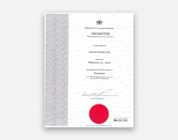 Promoter licence   astons group ltd 01